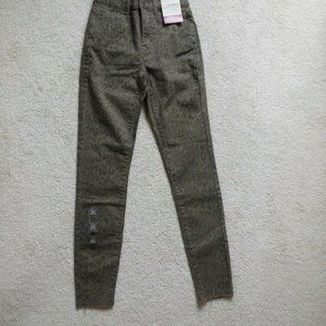 SO High-Rise Leopard Ultimate Ankle Jegging Size 0